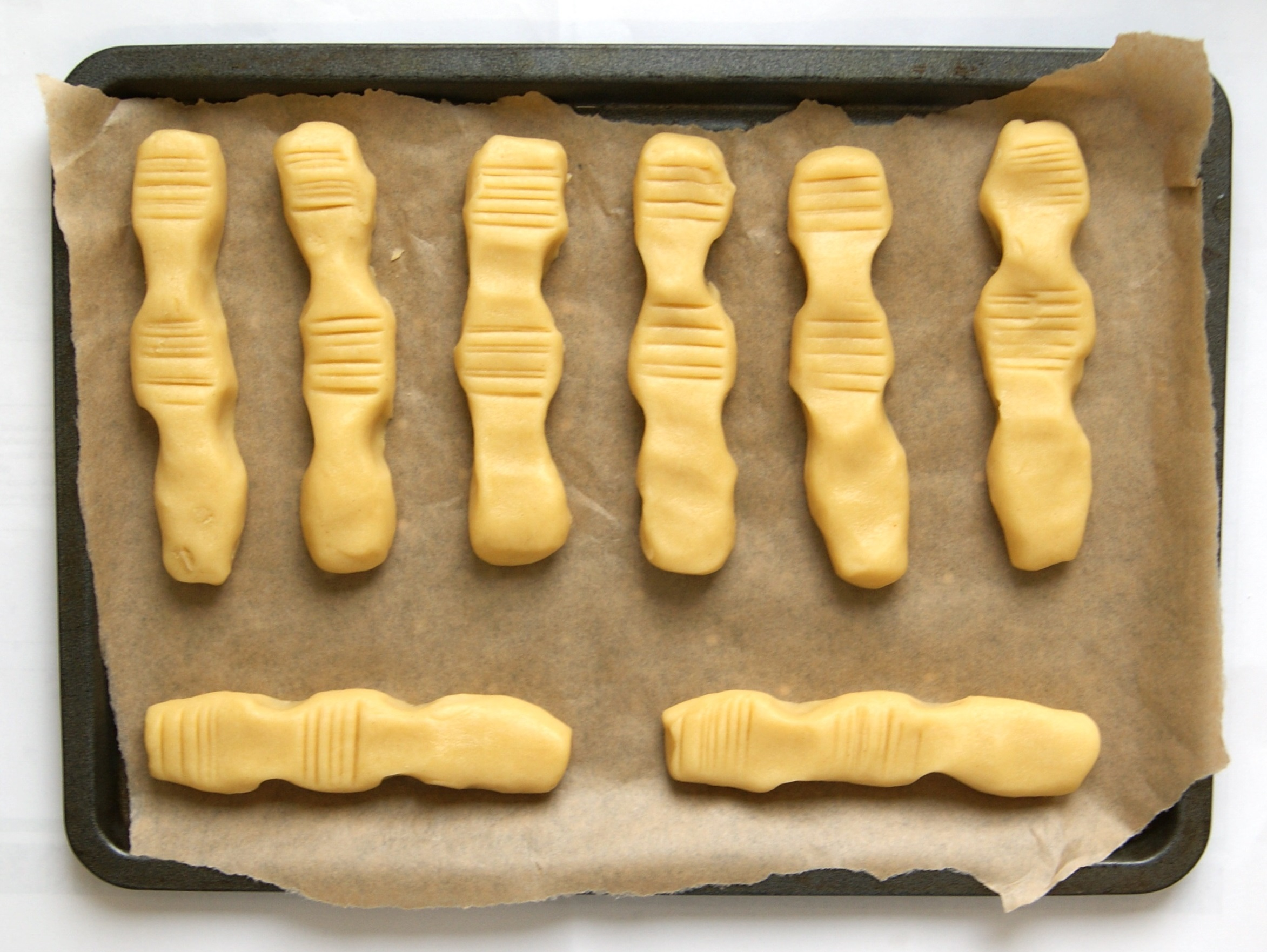 Scary witch finger biscuits