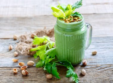 pistachio avocado smoothie milkshake green