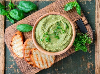 green pistachio pesto hummus easy recipe idea