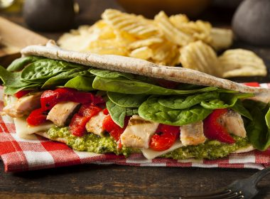 turkey chicken pesto flatbread sandwich christmas dinner leftovers
